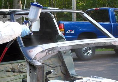 Windshield Frame Painting