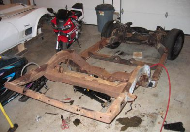 Chassis Disassembly and Sandblasting