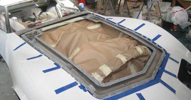 Body Work: Hood Fiberglass Repairs & Primer